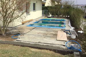 Garten mit Pool - Phase drei